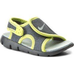 Sandały NIKE - Sunray Adjust 4 (Td) 386519 013 Dark Grey/Wolf Grey/Volt. Szare sandały chłopięce marki Nike, z materiału. Za 109,00 zł.