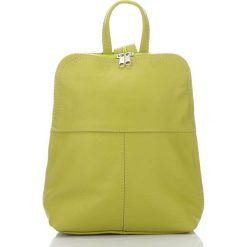 BEVERLY skórzany plecak damski Seledynowy. Zielone plecaki damskie Abruzzo, eleganckie. Za 129,00 zł.