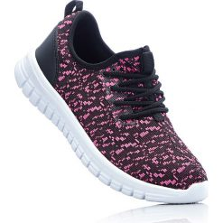 Sneakersy bonprix czarno-różowy. Czarne buty sportowe chłopięce bonprix, na sznurówki. Za 79,99 zł.