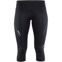 Craft Spodnie Essential Capri Black Xs. Czarne bryczesy damskie marki Craft, xs, z materiału, na fitness i siłownię. W wyprzedaży za 159,00 zł.