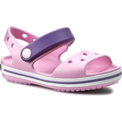 Sandały dziewczęce: Sandały CROCS – Crocband Sandal Kids 12856 Carnation/Blue Violet