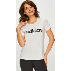 Adidas Performance - Top. Szare topy damskie marki adidas Performance, l, z nadrukiem, z dzianiny, z okrągłym kołnierzem. Za 99,90 zł.