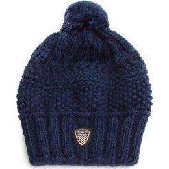 Czapka EA7 EMPORIO ARMANI - 285400 8A734 31935 Black Iris. Niebieskie czapki zimowe damskie marki WED'ZE, z materiału. W wyprzedaży za 229,00 zł.