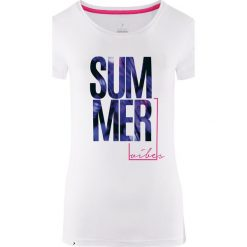 Outhorn Koszulka damska HOL18-TSD618 biała r. M. Szare bluzki damskie marki Outhorn, melanż, z bawełny. Za 24,99 zł.