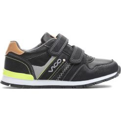 Czarne Buty Sportowe Motility. Czarne buciki niemowlęce marki Born2be, z okrągłym noskiem, na obcasie. Za 79,99 zł.