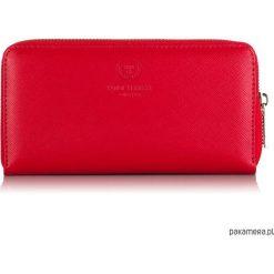 PORTFEL DAMSKI PAOLO PERUZZI SKÓRA SAFFIANO M-07. Czerwone portfele damskie marki Pakamera, ze skóry. Za 143,00 zł.