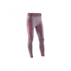 Legginsy do jogi 7/8 Yoga damskie. Czerwone legginsy skórzane DOMYOS, xs. Za 64,99 zł.