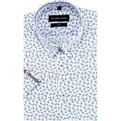 Koszula SIMONE slim KKWS000018. Białe koszule męskie na spinki marki INESIS, m, z bawełny, z długim rękawem. Za 169,00 zł.