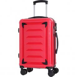 Walizka w kolorze czerwonym - 39 l. Czerwone walizki Bagstone & Travel One, z materiału. W wyprzedaży za 239,95 zł.