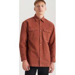 Koszula flanelowa oversize ReDesign - Bordowy. Czerwone koszule męskie marki Cropp, l. Za 139,99 zł.