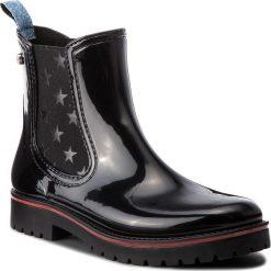 Kalosze TRUSSARDI JEANS - 79A00285 K299. Czarne buty zimowe damskie Trussardi Jeans, z jeansu. Za 469,00 zł.