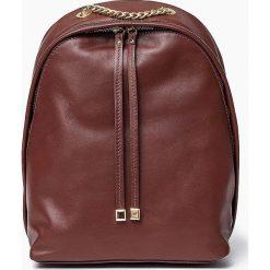 Skórzany brązowy plecak CARMEN Vera Pelle. Brązowe plecaki damskie Vera Pelle, ze skóry, klasyczne. Za 219,00 zł.