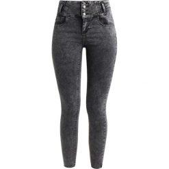 New Look HIGHWAIST LOBSTER Jeans Skinny Fit grey. Czarne jeansy damskie marki New Look, z materiału, na obcasie. W wyprzedaży za 125,10 zł.