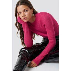 Glamorous Brokatowy sweter - Pink. Różowe swetry klasyczne damskie marki Glamorous, z nadrukiem, z asymetrycznym kołnierzem, asymetryczne. Za 161,95 zł.
