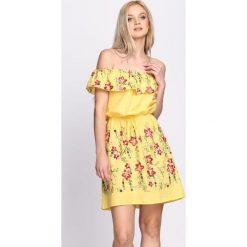 Sukienki: Żółta Sukienka Maxi Floral