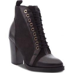 Botki CARINII - B4672  E50-360-POL-B77. Czarne buty zimowe damskie Carinii, z nubiku, na obcasie. Za 479,00 zł.