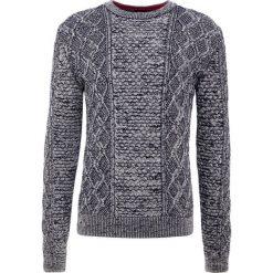BOSS CASUAL AKASELLY Sweter dark blue. Niebieskie swetry klasyczne męskie BOSS Casual, l, z bawełny. Za 709,00 zł.