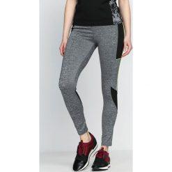 Spodnie damskie: Szaro-Zielone Legginsy Fashion Editor