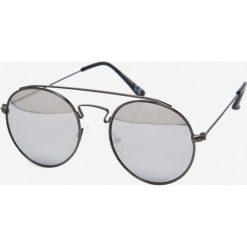 Jack & Jones - Okulary Jacob. Brązowe okulary przeciwsłoneczne męskie aviatory Jack & Jones, z materiału, okrągłe. W wyprzedaży za 59,90 zł.