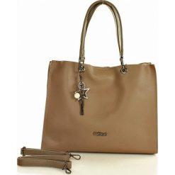 Torebki klasyczne damskie: NOBO Designerska torebka miejska na ramię  brązowy