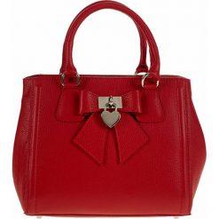 Torebki klasyczne damskie: Skórzana torebka w kolorze czerwonym – 30 x 22 x 14 cm