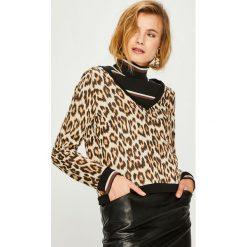 Answear - Sweter Animal Me. Szare swetry klasyczne damskie marki ANSWEAR, l, z poliesteru, z długim rękawem, długie. Za 129,90 zł.