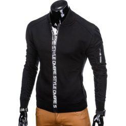 BLUZA MĘSKA ROZPINANA BEZ KAPTURA B739 - CZARNA. Czarne bluzy męskie rozpinane marki Ombre Clothing, m, z bawełny, bez kaptura. Za 69,00 zł.