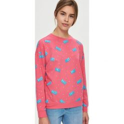 Bluzy damskie: Bluza z nadrukiem – Różowy