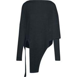 Urban Classics Ladies Asymetric Sweater Bluza damska czarny. Czarne bluzy damskie Urban Classics, xs. Za 121,90 zł.