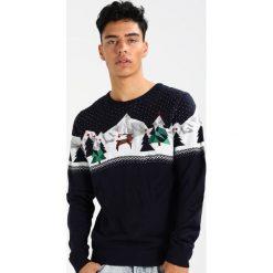 Swetry klasyczne męskie: Burton Menswear London POLYGON REINDEER Sweter navy