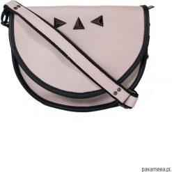 Torebka na ramię półokrągła Pinkissimo. Czarne torebki klasyczne damskie Pakamera, ze skóry, zdobione. Za 420,00 zł.