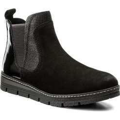 Sztyblety MARCO TOZZI - 2-25479-29 Black Ant.Comb 096. Czarne buty zimowe damskie marki Marco Tozzi, z lakierowanej skóry. W wyprzedaży za 209,00 zł.