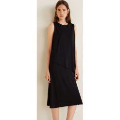 Mango - Sukienka Creppe. Szare sukienki na komunię marki Mango, na co dzień, l, z tkaniny, casualowe, z dekoltem halter, na ramiączkach, midi, rozkloszowane. Za 139,90 zł.