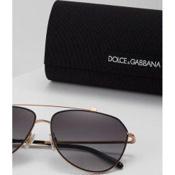 Dolce&Gabbana Okulary przeciwsłoneczne light grey gradient black. Szare okulary przeciwsłoneczne damskie lenonki marki Dolce&Gabbana. Za 839,00 zł.