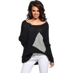 Sweter w kolorze czarno-szarym. Czarne swetry oversize damskie Lemoniade. Za 89,95 zł.