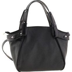 Torebki klasyczne damskie: Skórzana torebka w kolorze czarnym – 36 x 27 x 11 cm