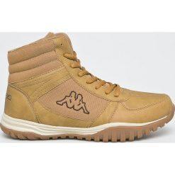 Kappa - Buty Brasker Mid. Brązowe buty trekkingowe męskie Kappa, z gumy, na sznurówki, outdoorowe. Za 159,90 zł.