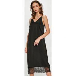 Vero Moda - Sukienka. Brązowe sukienki koronkowe marki Vero Moda, na co dzień, l, casualowe, na ramiączkach, midi, proste. Za 169,90 zł.