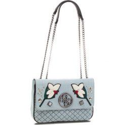 Torebka GUESS - HWDF69 99200 BDM. Niebieskie torebki klasyczne damskie marki Guess, z aplikacjami, z materiału. Za 589,00 zł.