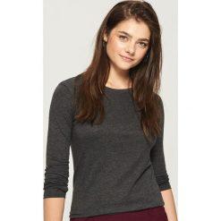 Bluzki damskie: Gładka bluzka - Szary