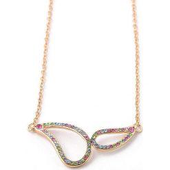 Naszyjniki damskie: Pozłacany naszyjnik z elementem ozdobnym – dł. 40 cm