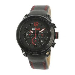 """Zegarki męskie: Zegarek """"E2.1"""" w kolorze czarno-czerwonym"""