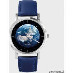 Zegarek - Ziemia - granatowy, skórzany. Niebieskie zegarki damskie Pakamera. Za 139,00 zł.