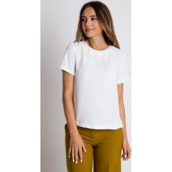 Bluzki damskie: Pudełkowa bluzka ecru BIALCON