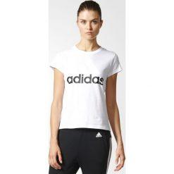 KOSZULKA - KR.REKAW WHITE ESS LI SLI TEE. Białe bluzki z odkrytymi ramionami Adidas, z bawełny, z krótkim rękawem. Za 69,99 zł.