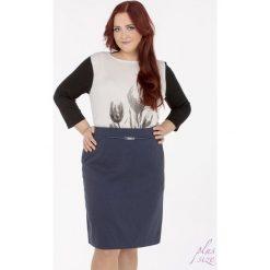 Spódniczki: Spódnica w drobne kropeczki Plus