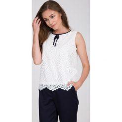 Bluzki asymetryczne: Biała koronkowa bluzka QUIOSQUE