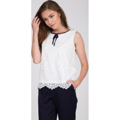 Bluzki damskie: Biała koronkowa bluzka QUIOSQUE