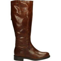 Kozaki ocieplane - 2151102 MARSA. Czarne buty zimowe damskie marki Kazar, ze skóry, na wysokim obcasie. Za 299,00 zł.