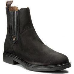 Sztyblety GANT - Ashley 15553121  Black G00. Czarne buty zimowe damskie GANT, z materiału, na obcasie. W wyprzedaży za 409,00 zł.